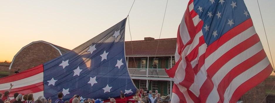 Fort McHenry Flag Raising   Snag-A-Slip