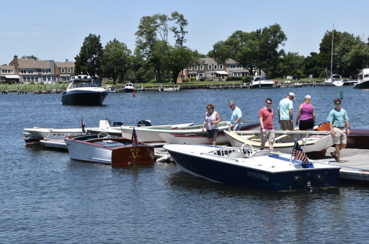 Docks with antique boats | Antique Classic Boat Festival | Snag-A-Slip