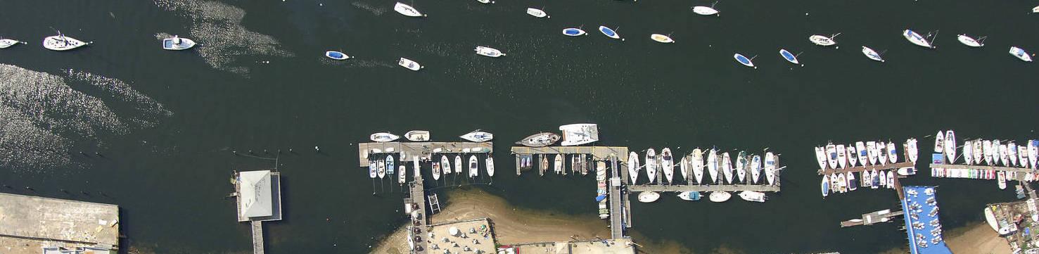 Miramar Aerial Photo of docks   New Marinas Added   Snag-A-Slip