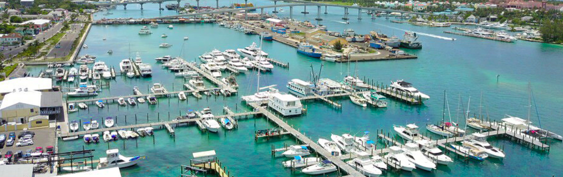 Nassau Yacht Haven Overhead | New Marinas Added in February | Snag-A-Slip