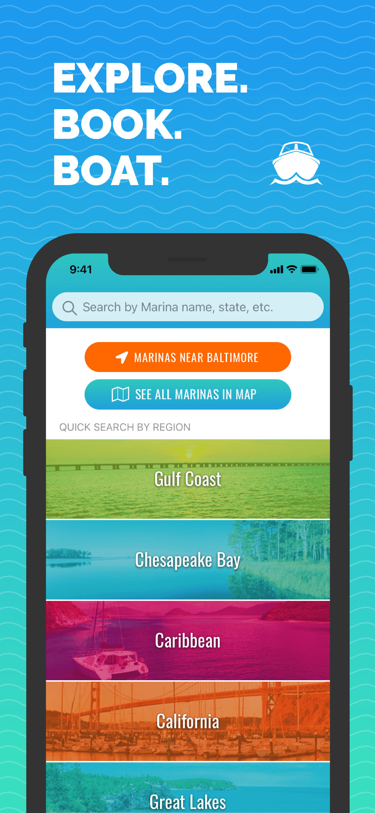Search Tab - Snag-A-Slip 2.0 - Mobile App - Updates - Book Boat Slips