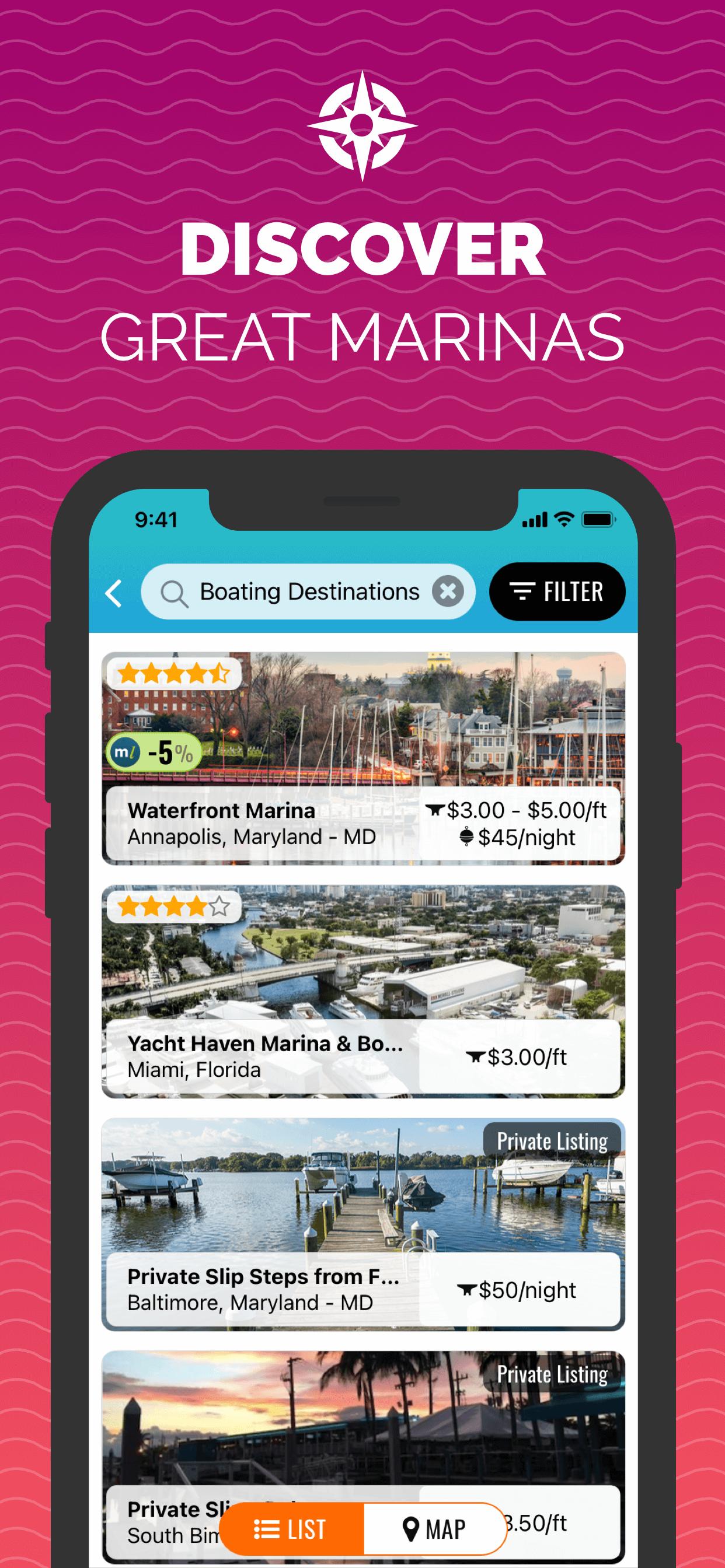 Marina Results - Snag-A-Slip 2.0 - Mobile App - Updates - Book Boat Slips