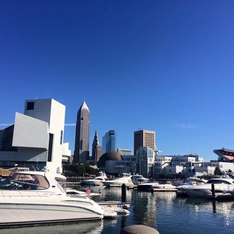 Oasis Marinas at North Coast boats and view of Cleveland   New Marinas Added   Snag-A-Slip