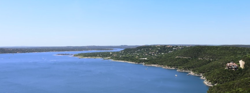 Aerial of lake travis by Photo by Dale Honeycutt on Unsplash | Lake Travis | Snag-A-Slip