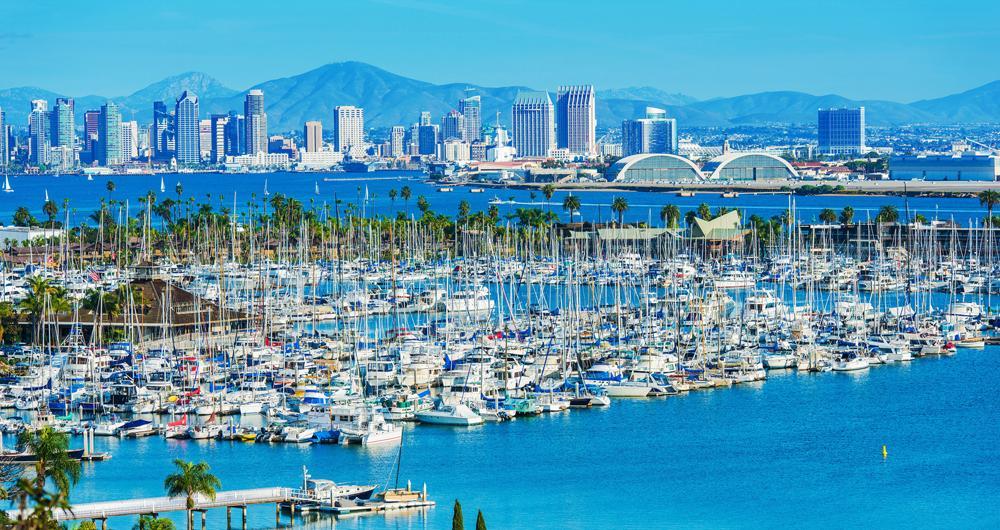 Boat to San Diego, California marinas on Snag-A-Slip